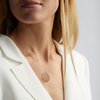Rose Gold Vermeil Ziggy Petal Pendant Charm - Monica Vinader