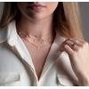 Sterling Silver Fiji Tiny Button Diamond Necklace - Diamond - Monica Vinader
