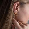 Gold Vermeil Fiji Tiny Button Huggie Diamond Earrings - Diamond - Monica Vinader