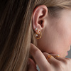 Sterling Silver Fiji Tiny Button Stud Diamond Single Earring - Diamond - Monica Vinader