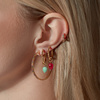 Gold Vermeil Fiji Bud Gemstone Pendant Charm - Pink Quartz - Monica Vinader
