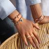 Gold Vermeil Fiji Bud Gemstone Pendant Charm - Turquoise - Monica Vinader