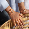 Rose Gold Vermeil Fiji Bud Gemstone Pendant Charm - Pink Opal - Monica Vinader