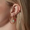Rose Gold Vermeil Fiji Bud Gemstone Pendant Charm - Pink Quartz - Monica Vinader