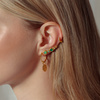 Gold Vermeil Siren Tonal Climber Earrings - Mix - Monica Vinader