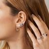 Sterling Silver Siren Tonal Climber Earrings - Mix - Monica Vinader
