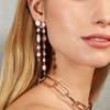 Rose Gold Vermeil Siren Tonal Cocktail Earrings - Mix - Monica Vinader