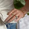 Gold Vermeil Siren Charm Ring - Chrysoprase - Monica Vinader