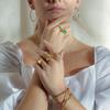 Rose Gold Vermeil Siren Tonal Cluster Cocktail Ring - Mix - Monica Vinader