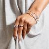 Sterling Silver Siren Tonal Half Eternity Ring - Mix - Monica Vinader