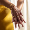 Gold Vermeil Havana Adjustable Friendship Ring - Monica Vinader
