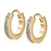 Gold Vermeil Skinny Huggie Diamond Earrings - Diamond - Monica Vinader