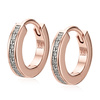 Rose Gold Vermeil Skinny Huggie Diamond Earrings - Diamond - Monica Vinader