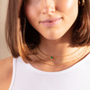 Gold Vermeil Siren Mini Nugget Necklace - Green Onyx - Monica Vinader