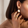 Sterling Silver Skinny Diamond Ear Cuff - Diamond - Monica Vinader