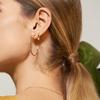 Rose Gold Vermeil Skinny Large Hoop Diamond Earrings - Diamond - Monica Vinader