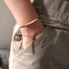 Rose Gold Vermeil By Your Side Bracelet - Mink - Monica Vinader