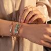 Rose Gold Vermeil Baja Bracelet - Grey Agate - Monica Vinader