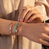 Rose Gold Vermeil Baja Bracelet - Rhodonite - Monica Vinader