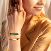 Gold Vermeil Baja Bracelet - Green Onyx - Monica Vinader