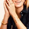 Sterling Silver Baja Skinny Bracelet - Diamond - Monica Vinader