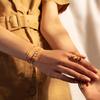 Rose Gold Vermeil Linear Bead Diamond Row Friendship Chain Bracelet - Diamond - Monica Vinader