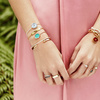 Gold Vermeil Atlantis Hamsa Friendship Chain Bracelet - Moonstone - Monica Vinader