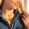Gold Vermeil Alphabet J Pendant Charm - Monica Vinader