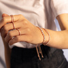 Rose Gold Vermeil Fiji Skinny Bar Friendship Chain Bracelet - Diamond - Monica Vinader