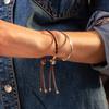 Rose Gold Vermeil Fiji Friendship Bracelet - Powder Blue - Monica Vinader