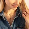 Sterling Silver Alphabet D Diamond Pendant Charm - Diamond - Monica Vinader