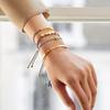 Rose Gold Vermeil Linear Solo Friendship Diamond Bracelet - Sky Blue Cord - Diamond - Monica Vinader