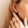Gold Vermeil Nura Small Pebble Stud Earrings - Monica Vinader