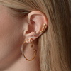 Rose Gold Vermeil Nura Teardrop Climber Earrings - Monica Vinader