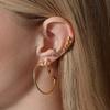 Gold Vermeil Nura Teardrop Climber Earrings - Monica Vinader
