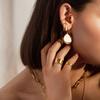 Gold Vermeil Nura Teardrop Cocktail Earrings - Monica Vinader