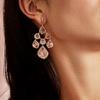 Rose Gold Vermeil Siren Chandelier Earrings - Rose Quartz - Monica Vinader