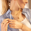 Sterling Silver Linear Solo Diamond Necklace - Diamond - Monica Vinader