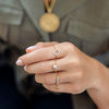 Gold Vermeil Fiji Mini Button Adjustable Friendship Diamond Ring - Diamond - Monica Vinader