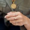 Rose Gold Vermeil Fiji Mini Button Adjustable Friendship Diamond Ring - Diamond - Monica Vinader