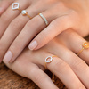 Rose Gold Vermeil Riva Mini Circle Adjustable Friendship Diamond Ring - Diamond - Monica Vinader