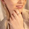 Sterling Silver Riva Mini Circle Stacking Ring - Diamond - Monica Vinader