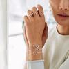 Sterling Silver Riva Circle Diamond Bracelet - Diamond - Monica Vinader