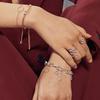Sterling Silver Riva Hoop Diamond Pendant Charm - Diamond - Monica Vinader