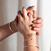 Rose Gold Vermeil Skinny Short Bar Bracelet - Diamond - Monica Vinader