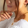 Rose Gold Vermeil Alta Capture Mini Link Earrings - Monica Vinader