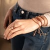 Rose Gold Vermeil Linear Friendship Bracelet - Rose Gold Metallica - Monica Vinader