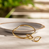 Gold Vermeil Alta Capture Charm Bangle - Monica Vinader