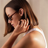 Gold Vermeil Skinny Diamond Ear Cuff - Diamond - Monica Vinader