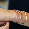 Rose Gold Vermeil Riva Diamond Wave Cuff - Diamond - Monica Vinader
